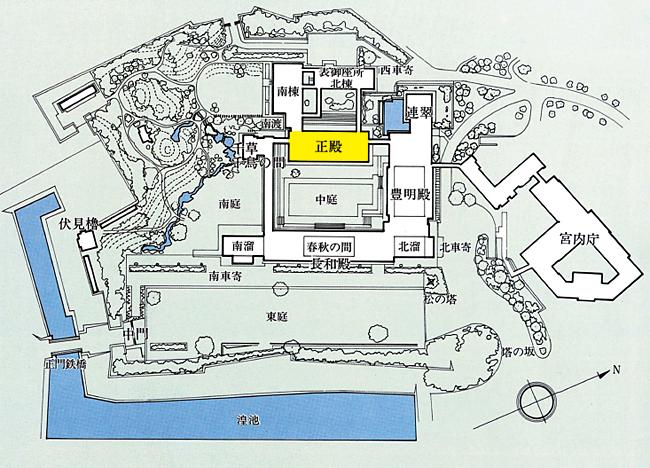 宮殿殿内位置図